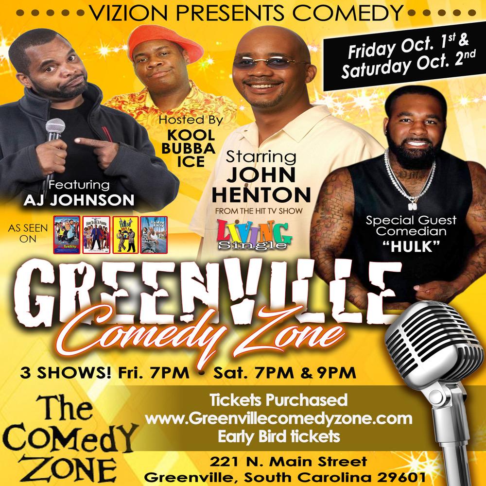 Greenville Comedy Show - vizion presents