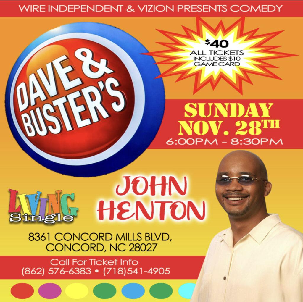 vizion presents comedy - john henton